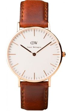Classic St Andrews Rose Gold & Brown Leather Women's Watch Daniel Wellington