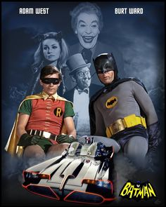 Batman Adam West and Robin Burt Ward Batman Film, Batman Tv Show, Batman Tv Series, Batman Batmobile, Batman The Movie, Batman Y Robin, Batman 1966, Im Batman, Superman