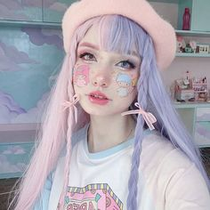 Pastel Purple Hair, Pink Hair Dye, Dyed Hair Pastel, Hair Color Purple, Hair Dye Colors, Dye My Hair, Blue Hair, Half Dyed Hair, Half And Half Hair