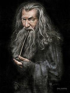 Gandalf illustration created using SketchBook Pro. PAUL SHIPPER STUDIO BLOG