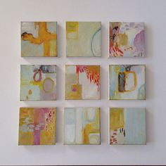 Small abstract painting small abstract by ArtbyJohnnaAyalin