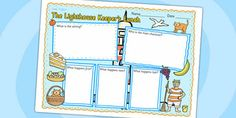 Preview: The Lighthouse Keeper's Lunch Book Review Writing Frame