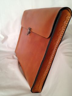 Portfolio Brief Case Genuine Leather Handmade by HeirloomLeather, $139.00