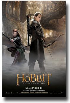 Desolation of Smaug Poster – Legolas Tauriel – The Hobbit Series