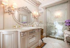 дизайн интерьера санузла Luxury Interior Design, Interior Architecture, Interior Decorating, White Bathroom, Master Bathroom, Decorative Household Items, Powder Room Vanity, Luxury Homes Dream Houses, Pretty Room
