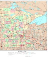 Tarrant County TX Zip Code Maps Premium Style Places - Political map of minnesota