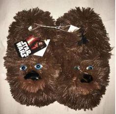 New Star Wars Chewbacca Toddler Boy's Brown Furry Slip On Slippers Medium 7//8
