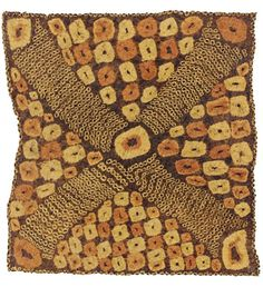 Africa | Textile from the Dida people of Ivory Coast | Raffia; plaited and tie-dyed.