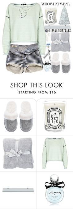 """""""What to Wear:Netflix Binge"""" by grozdana-v ❤ liked on Polyvore featuring Who What Wear, Victoria's Secret, Diptyque, Barefoot Dreams, Pull&Bear, rag & bone, Kate Spade, M&Co and WhatToWear"""