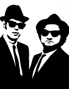 The Blues Brothers: Black & White Pop Art Canvas Painting. $59.00, via Etsy.