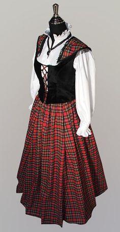scottish plaid clothing | Details about Medieval Scottish Tartan Costume Dress Women Size XL