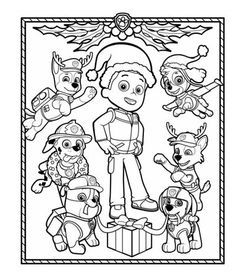 Get in the holiday spirit with this PAW Patrol coloring page!