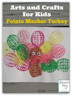 Arts and Crafts for Kids- Potato Masher Turkey
