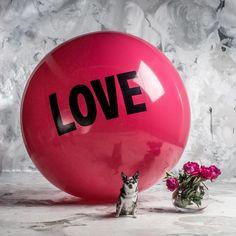 5 foot Big Love Ball with Walter | Color : Flirt | Photo by Bob Garlick