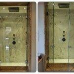 Box doccia in cristallo temperato extrachiaro a doppio battente - Roma - VetroeXpert - Box doccia in cristallo temperato su misura