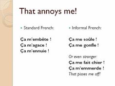 Informal French Vocabulary: Common Expressions