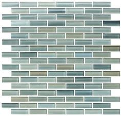 Sample - Reflections Hand Painted Glass Mosaic Subway Tiles -- Backsplash?