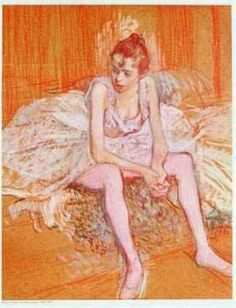 it's not all grace and beauty. it's also exhausting. Toulouse Lautrec