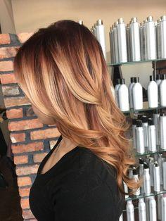 haarfarbe caramel braun, haare im obre look, trendige haarfarben 2018