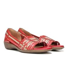 c39049d2df1 Naturalizer Red Nerissa Leather Flat