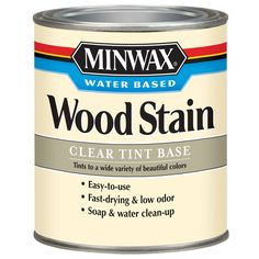 Minwax Water Based Wood Stain 29-fl oz Clear Water-Based Interior Stain