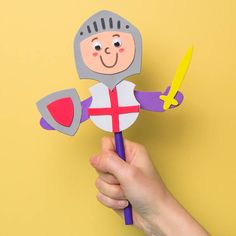Using a spoon and craft foam, a cute St George's Day puppet can be created! Using a spoon and craft foam, a cute St George's Day puppet can be created! Craft Activities For Kids, Crafts For Kids, Arts And Crafts, Craft Ideas, Group Activities, Foam Crafts, Craft Stick Crafts, Chateau Fort Moyen Age, Castle Theme Classroom