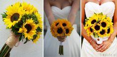 słonecznik bukiet ślubny
