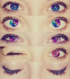 Galaxy eye contact lenses, perfect for Halloween 👿 Cool Contacts, Galaxy Eyes, Eye Contacts, Best Colored Contacts, Pretty Eyes, Cool Eyes, Beautiful Eyes, Maquillage Halloween, Colors