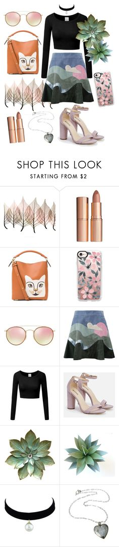 """""""Marc Jacobs Flare Skirt Outfit"""" by ktisgrose on Polyvore featuring Artistica, Charlotte Tilbury, Loewe, Casetify, Ray-Ban, Marc Jacobs and JustFab"""