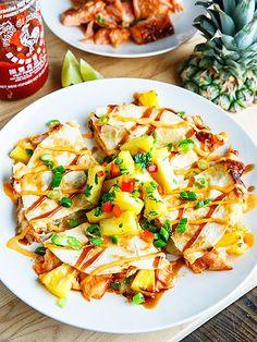 Teriyaki Salmon & Pineapple Quesadillas