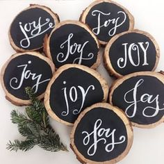 Lots of joy headed out to decorate the church. #holiday #joy #chalkart