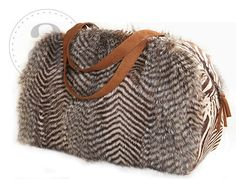 Gorgeous Feather Fur Overnight Bag! Available Online at Bliss Boutique www.txbliss.com