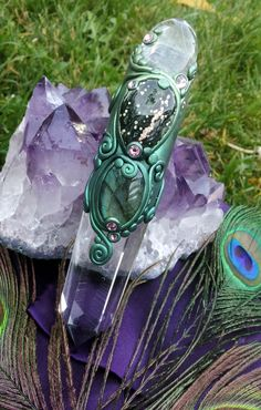 Magickal Ritual Sacred Tools:  Luna Blue's MerMuse Crystal #Wand Series by LunaBlueBoutique.