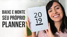 Planner 2019 Minimalista – baixe e imprima Diy Mini Album Scrapbook, Scrapbook Albums, Printable Planner, Free Printables, 2017 Planner, Diy Birthday, Boyfriend Gifts, Bujo, Diy And Crafts