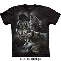 The Mountain Kids Wolf T-shirt | Eclipse Wolves