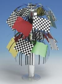 """Race Party Supplies Centerpiece. One Race Party Centerpiece is 10 1/2"""" High. Perfect for all your tables! Find it at http://www.ezpartyzone.com/pd-race-party-supplies-centerpiece.cfm"""