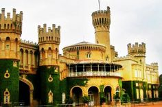 Bangalore Palace, built in 1887 in Tudor architectural-style was modelled on the Windsor Castle in England. Bengaluru [Formerly Bangalore], Karnataka, India Kerala, Sultan Palace, Bangalore India, Chennai, Amazing India, Mysore, Tourist Places, Karnataka, Madurai
