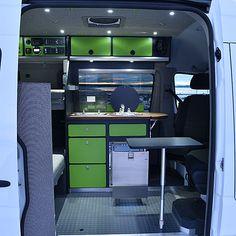 alaska-camper-vans | Gallery Mercedes Sprinter, Sprinter Camper, Benz Sprinter, Ford Van Conversion, Sprinter Van Conversion, Custom Camper Vans, Custom Vans, Van Interior, Camper Interior