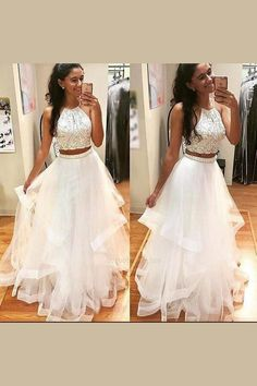 Absorbing Prom Dress For Teens, White Prom Dress, Prom Dress Two Piece Prom Dress Two Pieces Prom Dresses Prom Dresses White Prom Dresses For Teens Prom Dresses 2019 Wite Prom Dresses, Prom Dress Black, Prom Dresses For Teens Long, A Line Prom Dresses, Tulle Prom Dress, Pretty Dresses, Homecoming Dresses, Beautiful Dresses, Formal Dresses