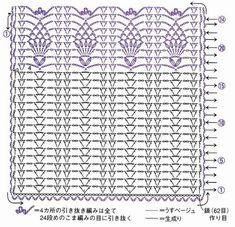 Diy Crafts - Your description Crochet Lace Edging, Crochet Square Patterns, Crochet Diagram, Crochet Patterns For Beginners, Crochet Chart, Crochet Basics, Knit Or Crochet, Crochet Designs, Crochet Stitches