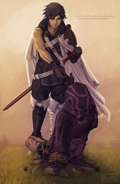 """Chrom and Avatar. """"There are better place to take a nap then, on the ground you know. Welcome back"""""""