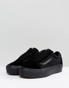 946a882b3854 Vans Old Skool Triple Platform Sneakers in Black