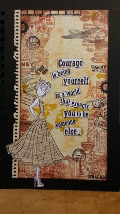 Love this card made from  Julie Nutting's mixed media doll stamps. Card taken from paperwishes.com