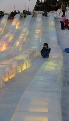 Ice slides at Ice Alaska.