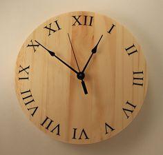 Modern wood clock Wall clock Wooden wall by BunBunWoodworking