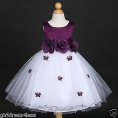 We are the largest Flower girl Designer, Manufacture, and Distributor in the Los Angeles Area. African Dresses For Kids, Dresses Kids Girl, Cute Dresses, Girl Outfits, Eggplant Wedding, Purple Flower Girls, Dress Anak, Wedding Flower Girl Dresses, Wedding Flowers