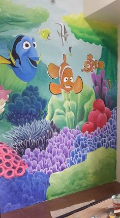My Works, Wall Murals, Kids Room, Painting, Art, Wallpaper Murals, Art Background, Room Kids, Murals