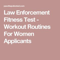124 police interview questions and answers pdf police officer law enforcement fitness test workout routines for women applicants fandeluxe Choice Image