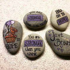 """27 Likes, 6 Comments - Lene Mortensen, Denmark  (@stenelene) on Instagram: """"#hope#holdon#paintedstones#stones #cystiskfibrose#justbreathe"""""""