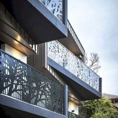 43 reference of Balcony Railing design modern elevation Balcony Grill Design, Balcony Railing Design, Apartment Balcony Decorating, Apartment Balconies, Balustrade Balcon, Metal Railings, Modern Mansion, Metal Panels, Fence Design